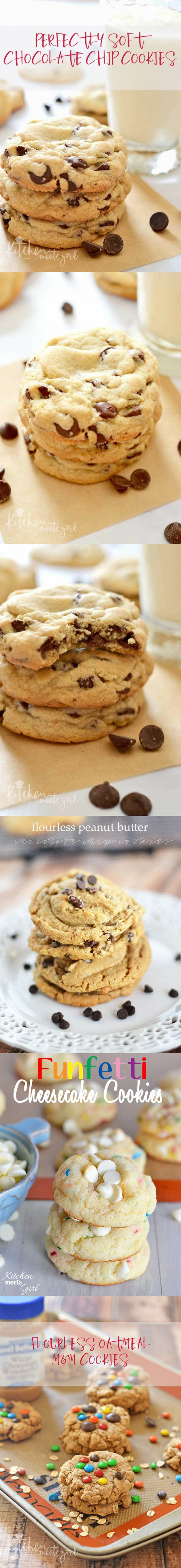 Perfectly Soft Chocolate Chip Cookies   Kitchen Meets Girl