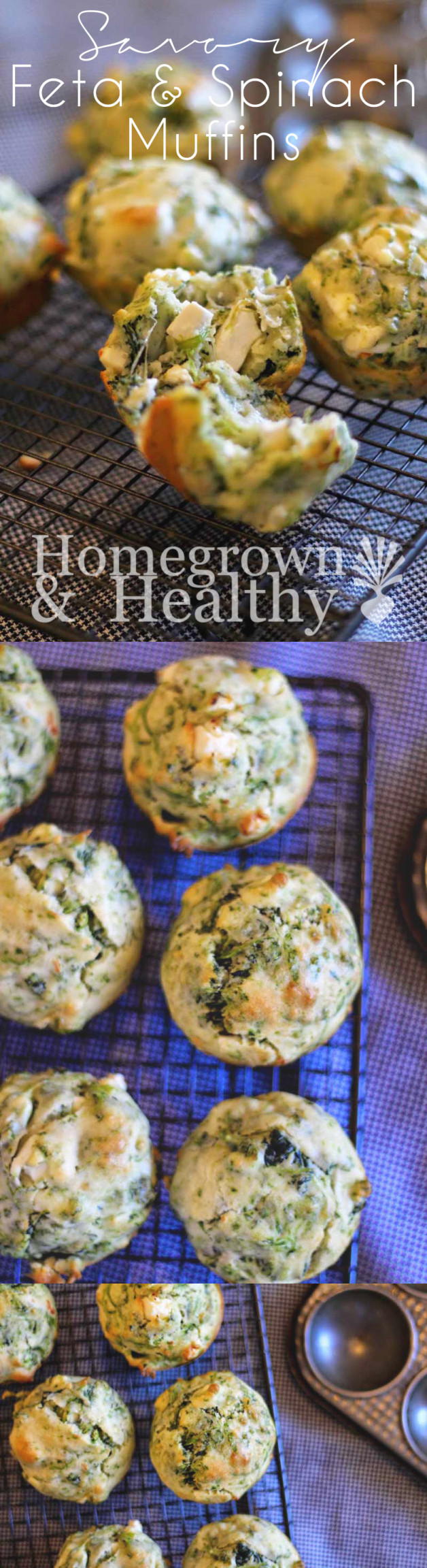 Feta and spinach muffins - Homegrown in the Valley