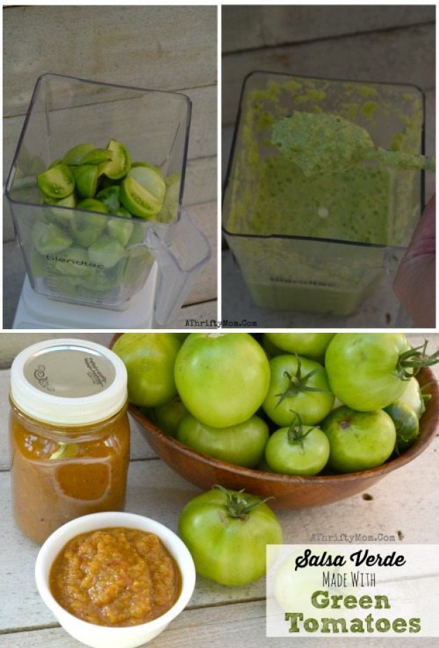 Green Tomato Recipe for Salsa Verde ~ What to do with Green Tomatoes