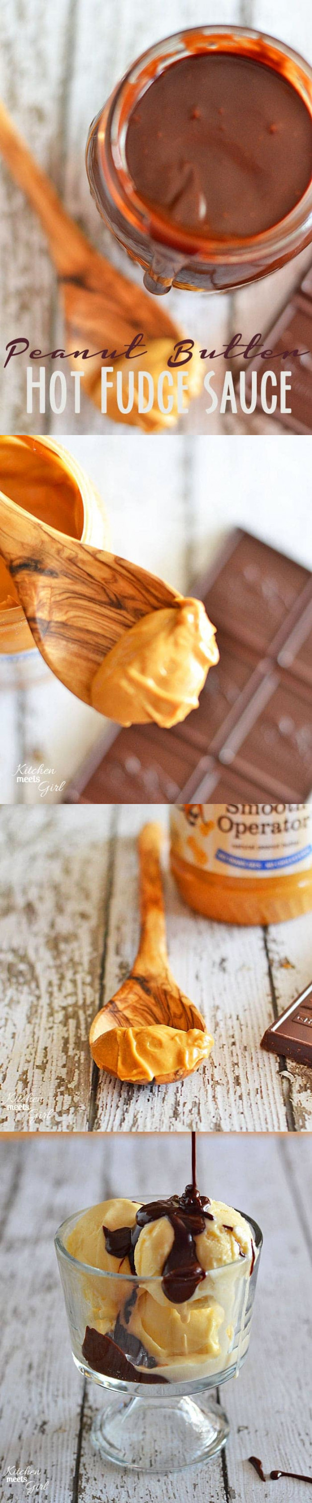 Peanut Butter Hot Fudge Sauce | Kitchen Meets Girl