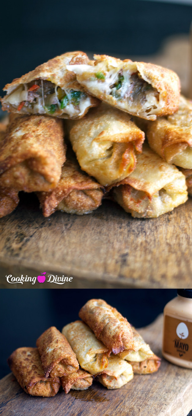 The Best Philly Cheesesteak Egg Roll Recipe - Cooking Divine