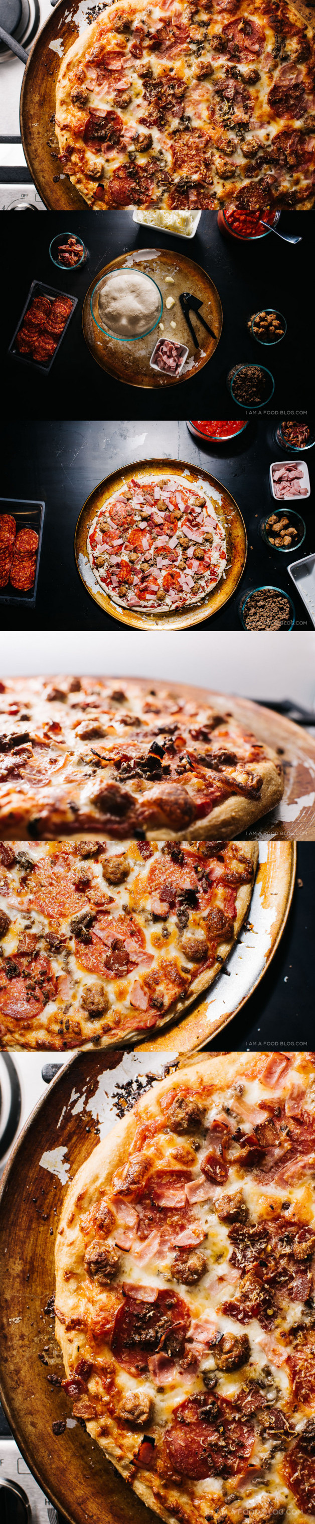 The Ultimate Meat-Lovers Pizza · i am a food blog