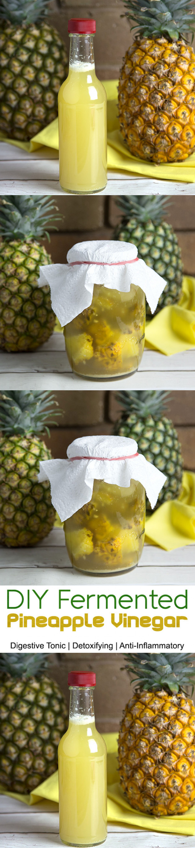 Homemade Fermented Pineapple Vinegar