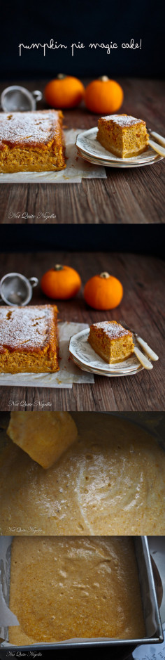 A Pumpkin Pie Magic Cake for Thanksgiving!