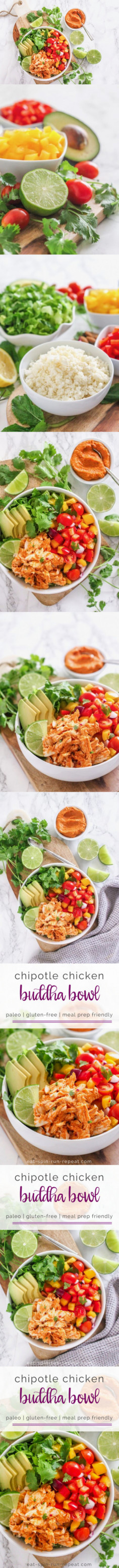 Chipotle Chicken Buddha Bowl | Eat, Spin, Run, Repeat