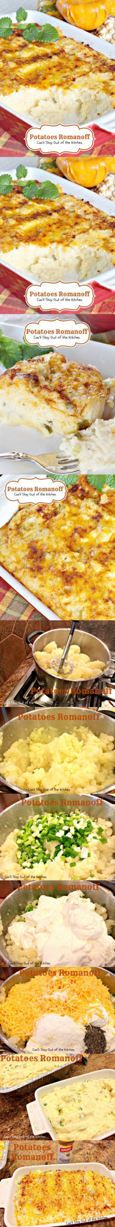Potatoes Romanoff - Can't Stay Out of the Kitchen