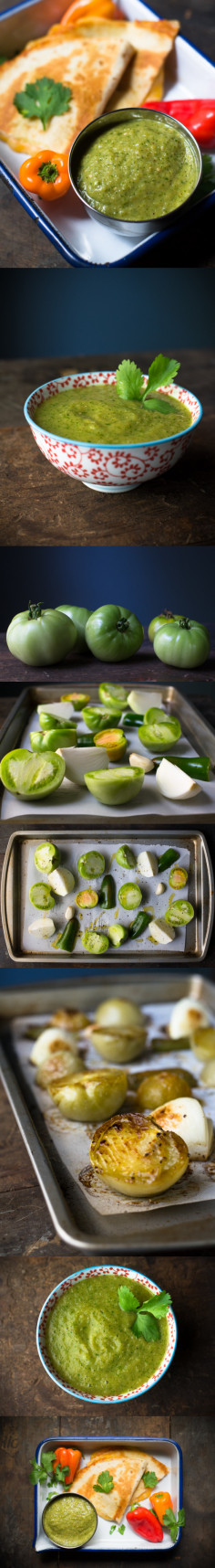 Roasted Green Tomato Salsa - Oakhurst Kitchen