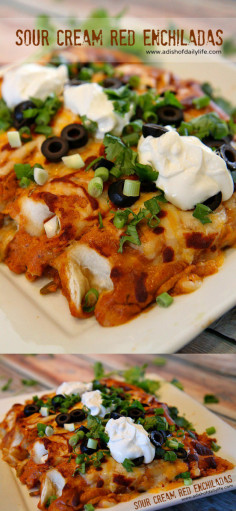 Sour Cream Red Enchiladas