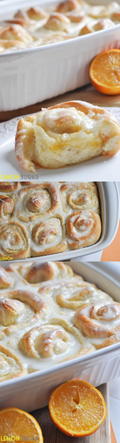 Sweet Orange Rolls - Lemon Sugar